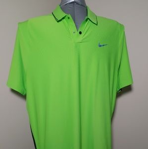 Nike Tiger Woods Green Polo Golf Shirt Size XL